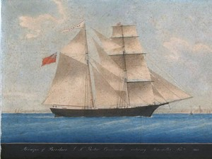 Painting of the ship - 1861