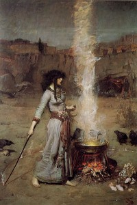 The magic circle - painted 1886