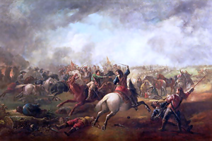 Depiction of the battle