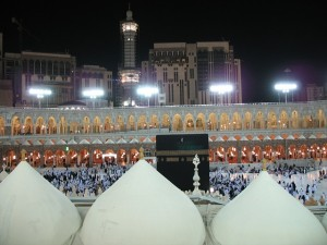 Sometimes hard to get a good view of the Kaaba